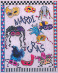 09-1526 Mardi Gras Masks by Xs And Ohs 173w X 213h