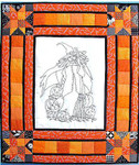 "Gwendolyn The Witch 39"" x 34"" Bobbie G Designs Quilting & Sewing"