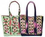 Twistin Diamonds Tote 14w x 14h x 4d Eazy Peazy Quilts Quilting & Sewing