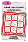 "Mind Your Mama (Redwork) 40"" x 40"" Eazy Peazy Quilts Quilting & Sewing"