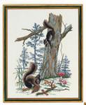 "7712675 Eva Rosenstand Kit Squirrels 16"" x 20""; Linen; 26ct"