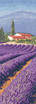 "HCK1247A Heritage Crafts Kit Lavender Fields  Internationals by John Clayton 12.4"" x 4.4""; Aida; 14ct"