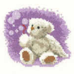 "HCK1032A Heritage Crafts Bubbles  Thread Bears by John Clayton 4"" x 3-1/2""; Aida; 14ct"