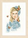 "PN156299 Lanarte Kit Butterflies 10.4"" x 17.6""; Ecru Linen; 30ct"