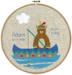 PNV145192 Vervaco Kit Indian Bear Fishing Felt clouds included. ; 9.6
