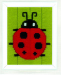 "PNV148038 Vervaco Kit Ladybug - Long Stitch 5"" x 6.4"""