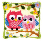 PNV149752 Vervaco Kit Owls on a Branch Pillow