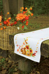 PNV149901 Vervaco Kit Squirrel in Autumn Table Runner