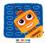 PNV150161 Vervaco Kit Funny Robot Latch Hook Rug