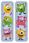 PNV150400 Vervaco Kit Little Monsters Bookmarks  (set of 2)