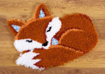 PNV150485 Vervaco Kit Sleeping Fox Latch Hook Rug