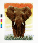 PNV150518 Vervaco Kit Elephant in Savannah II Latch Hook Rug