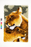 PNV150913 Vervaco Kit Lion Friendship II Latch Hook Rug