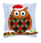 PNV154717 Vervaco Kit Christmas Owl Cushion