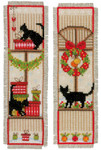 "PNV155657 Vervaco Kit Christmas Atmosphere Bookmarks (2) 2.4"" x 8""; Aida"