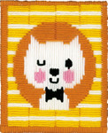 PNV155633 Vervaco Kit Winking Cat - Long Stitch