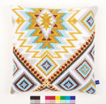 "PNV154994 Vervaco Kit Ethnical II Cushion 16"" x 16"""