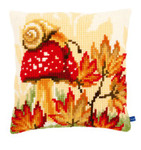 "PNV155250 Vervaco Kit Autum Scene Cushion 16"" x 16"""
