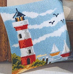 PNV8601 Vervaco Kit Lighthouse Cushion