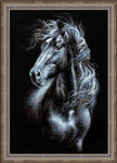 RL1494 Riolis Cross Stitch Kit Breeze Through Mane Horse
