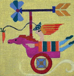 W102 Melissa Prince 6 x 6 Horse 18 Count