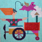 W105 Melissa Prince 6 x 6 Tractor 18 Count With Stitch Guide