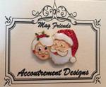 Mr. & Mrs. Claus Glamorous MAGNET Accoutrement Designs