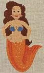 LL510S Labors Of Love Orange and Blue Mini Mermaid 18 Mesh 3 x 5.5
