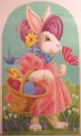 "LL192B Labors Of Love Miss Easter Rabbit 13 Mesh 11"" x 19"""