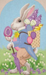 """LL192A13 Labors Of Love Peter Mr. Easter Rabbit 13 Mesh 11"""" x 19"""""""