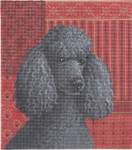 LL414C Labors Of Love Black Poodle 18 Mesh 7.5x8.5