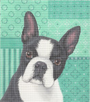 LL414F Labors Of Love Boston Terrier 18 Mesh 7.5x8.5