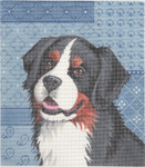 LL414I Labors Of Love Bernese Mountain Dog 18 Mesh 7.5x8.5
