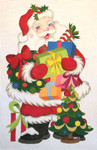 "HO1192 SANTA W/PACKAGES 17.5"" Tall, 18 Mesh Raymond Crawford Designs"