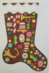 HO1186 GINGERBREAD STOCKING 11 x 17 18 Mesh  Raymond Crawford Designs