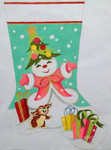 HO1169 Snowlady Stocking 11 x 17 18 Mesh Raymond Crawford Designs