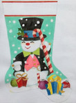 HO1170 Snowman Stocking 11 x 17 18 Mesh Raymond Crawford Designs