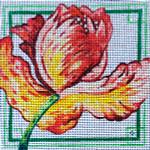 78C 7 x 7 13 mesh Red Tulip MM Designs