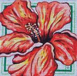 77C 7 x 7 13 mesh Red Hibiscus MM Designs