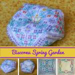 Brodeuse Bressane BB-BSG Biscornu Spring Garden with Silk Pack