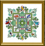 Dinky-Dyes Châtelaine Designs CHAT101 The Rainforest Mandala