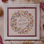 F-ECW Elves Christmas Wreath Dinky-Dyes Filigree