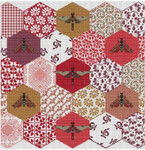 LD79 The Quilted Bees Stitch Count: 211 x 220 Long Dog Samplers