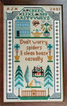 Moira Blackburn Samplers MBSpider Don't Worry Spiders Stitch Count: 91 x 150