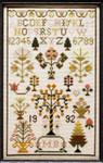 Moira Blackburn Samplers MBAES Adam And Eve Sampler Stitch Count: 89 x 148