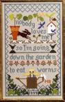 Moira Blackburn Samplers MBNLM Nobody Loves Me Stitch Count: 91 x 151