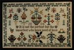 Moira Blackburn Samplers MBNOL Need of Love Stitch Count: 121 x 187
