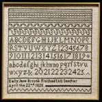 Moira Blackburn Samplers MBEBS Emily Bronte Sampler Stitch Count: 127 x 106