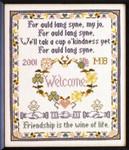 Moira Blackburn Samplers MBALS Auld Lang Syne Stitch Count: 127 x 153