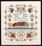 Moira Blackburn Samplers MBAWS Anniversary/Wedding Sampler Stitch Count: 230 x 307